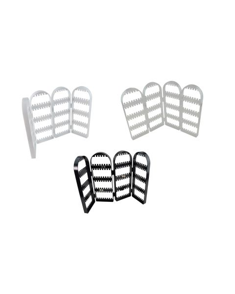 Acrylic Arched Adjustable 120 Pair Earring Display - Colour Choice **CLEARANCE**