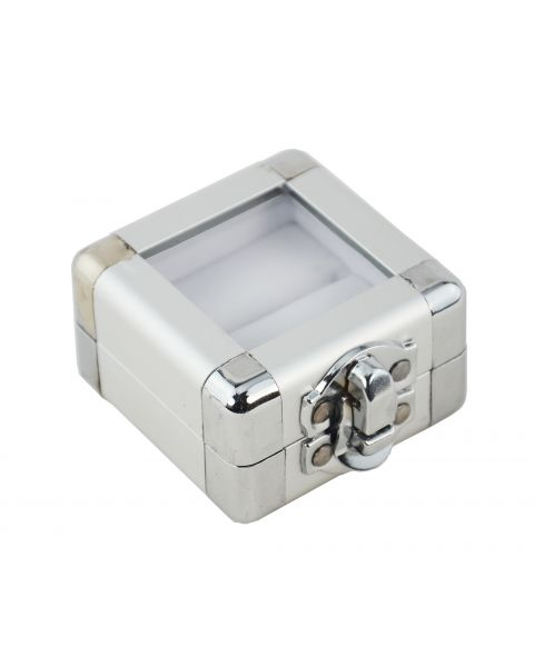 Aluminium Ring Box with Window & Clasp