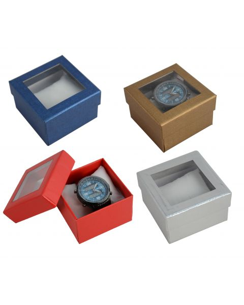 6 x Two Piece Card Watch / Bangle Pillow Box with Window