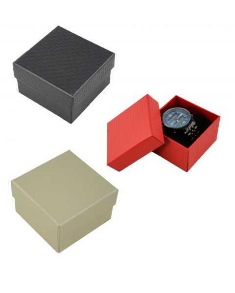 6 x Crosshatch Pattern Two Piece Card Watch / Bangle Pillow Boxes