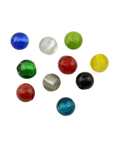 10pcs Round Silver Foil Lampwork Beads 10mm Colour Choice 45564-20