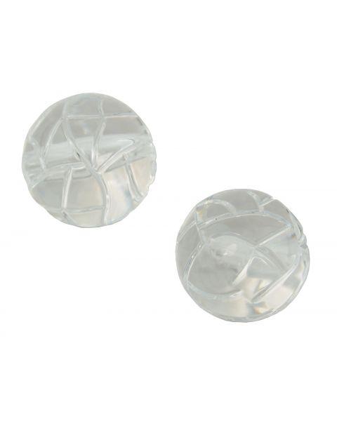 10pcs Clear Acrylic Round Bead 24mm (8-146)