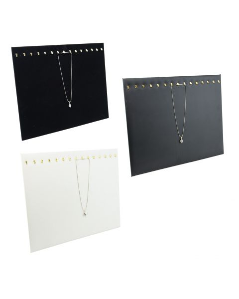 Large Necklace/Chain Display Pad with 15 Hooks - Colour Choice
