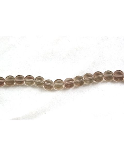 75 pcs Flat Round Crystal Beads 5mm Smokey Clear - 45564-270