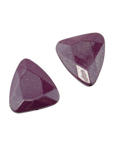 10pcs Acrylic Triangle Glitter Bead (8-187)