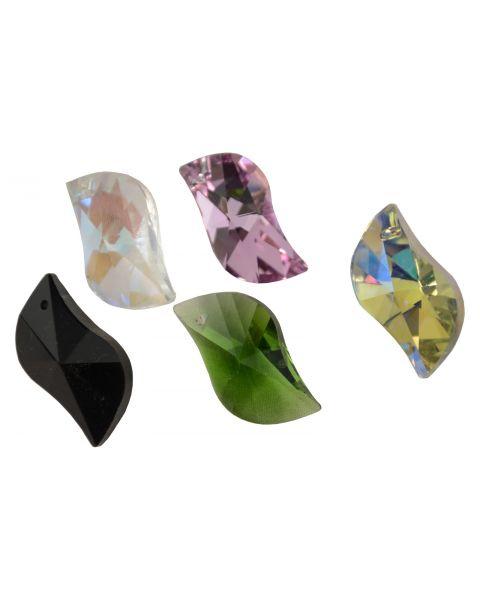 1 x Crystal Pendant Leaf 8-198 (colour choice)