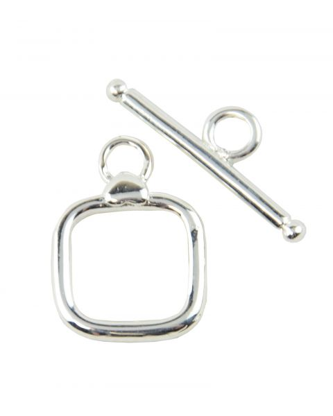 4 x Silver plated 14mm Square Toggles (8-80)