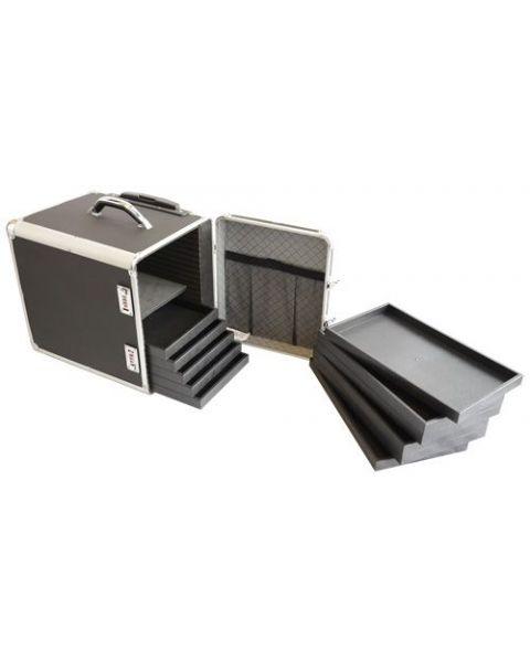 Aluminium Wheeled Storage Case Side Access with 12 Trays (BD8617B)