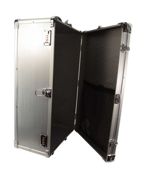 Large Aluminium Wheeled Storage Case with 24 Trays  Front Access (BD8628)