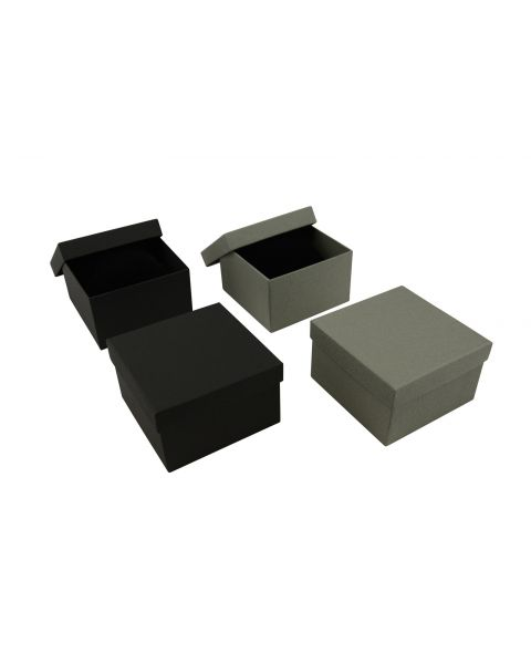 Vibrant Series Deep Watch/Bangle/Bracelet Pillow Box - Black -  from £1.19 each (ET-90)