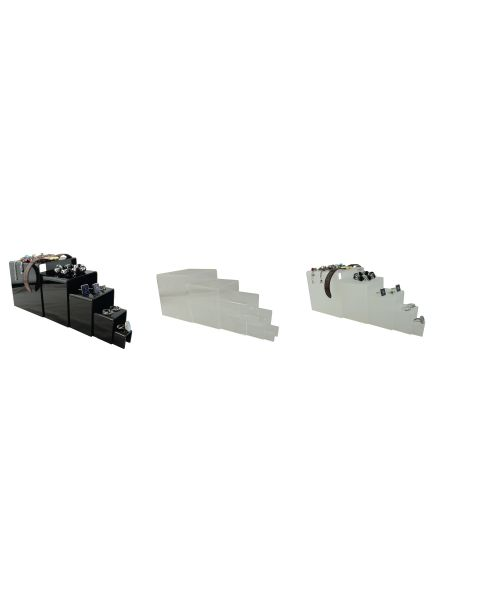 Acrylic 5 Part Rising Plinths Display Stand (A923)