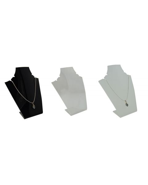 Acrylic Slim Bust 2 Pair Necklace Display Stand (A951)