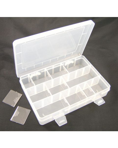 Adjustable Compartment Frosted Plastic Organizer (BD81) from £3.50 each