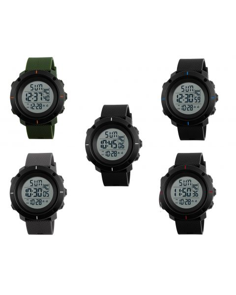 SKMEI Mens Digital Sports Military Outdoors Wrist Watch Back Light Dual Time
