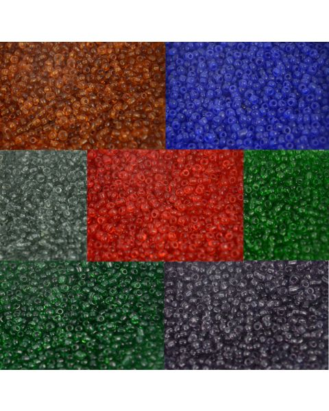 50g Bag of Glass Seed Beads - 8/0 3mm
