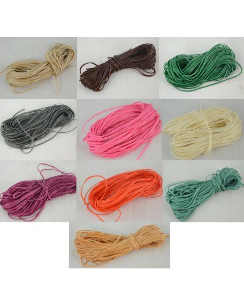 10m Coloured Wax Cord