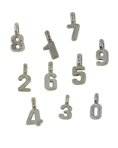 20pcs Number Alloy Charms - Choice of Number