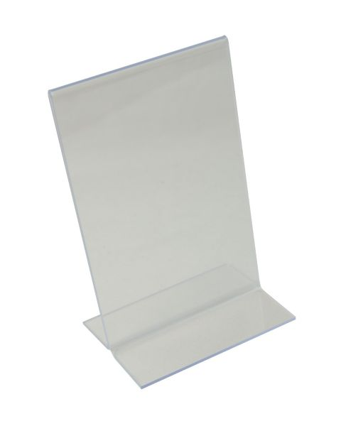 Acrylic Sign Holder - Upright 2 Sided - 90x143mm (BD-1211)