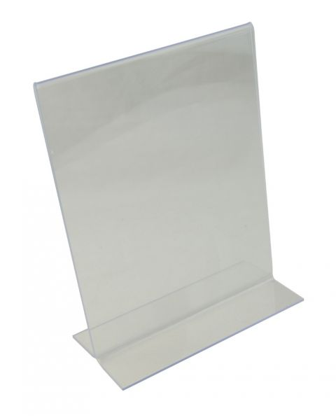 Acrylic Sign Holder - Upright 2 Sided - 128x182mm (BD-1213)