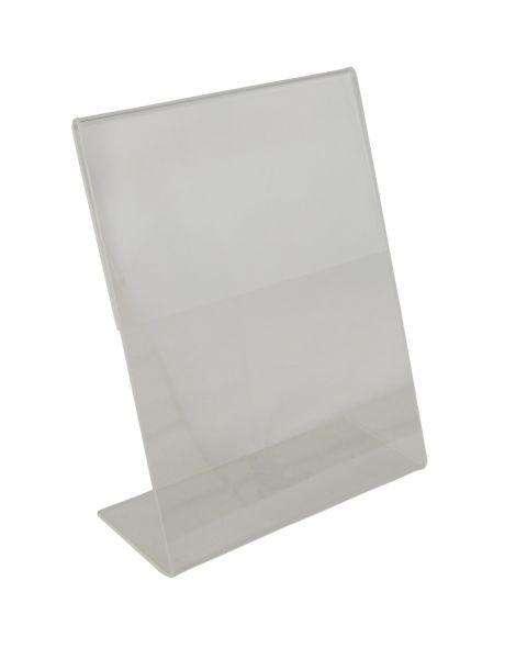 Acrylic Sign Holder - Slant Back Clear - 140x182mm (BD-1221)