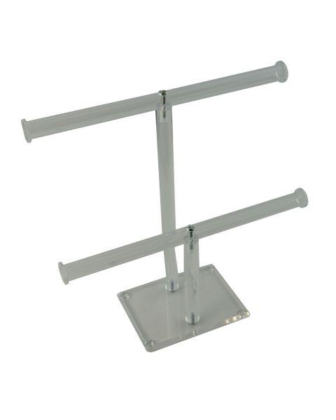Acrylic Bracelet Double T-Bar Stand Wide (BD-1330)