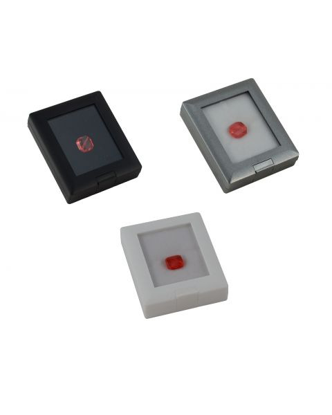 Clear Top Acrylic Flip Up Lid Gem Ring Earring Pendant Jewellery Display Box with Stand - Colour Choice