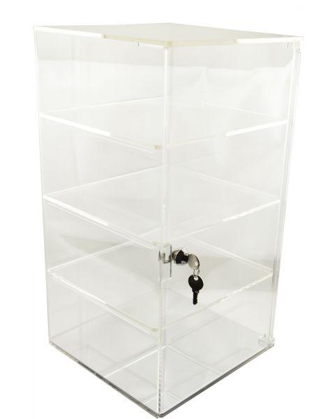 Acrylic Square Showcase Lockable Cabinet - (BD1109)