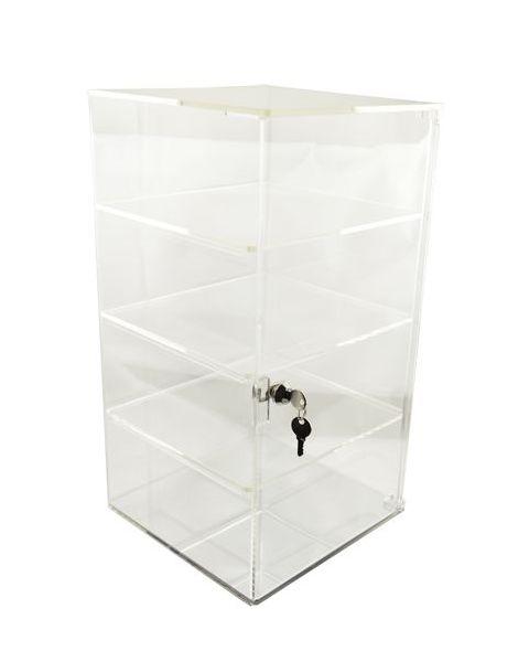 Acrylic Square Showcase Rotating Lockable Cabinet - BD1109B