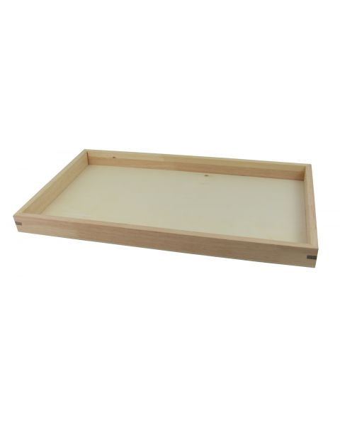 Natural Wood Stackable Display Tray 1 Inch Deep