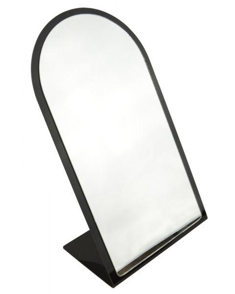 Black Frame Countertop Round Top Mirror - BD1804