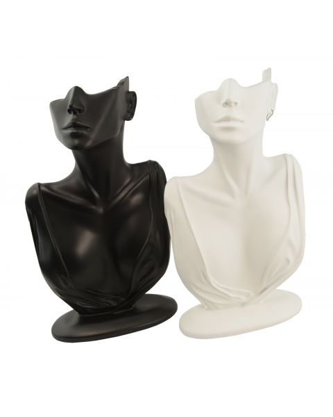 Bust/Face Resin Display Stand - (BD19) - Colour Choice