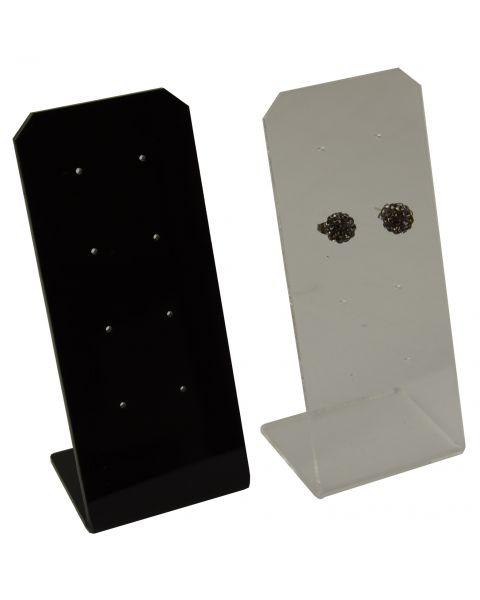 Acrylic 4 Pair Stud / Short Drops Earring Stand (A50-14) - Colour Choice