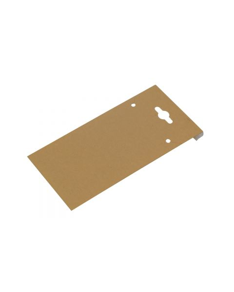 Plain Kraft 2 inch x 4 inch earring Hanging Cards - Pack of 100 - BD524-K