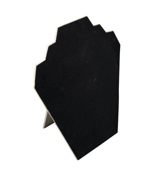 Black Velvet Flocked 2 Notch Display Bust 9 inch