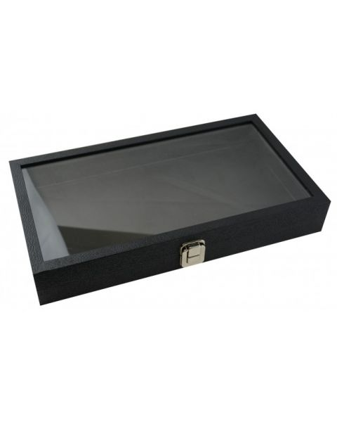 Full Size Display Tray Case snap close Glass lid - BD83-1C - from £12.45 each