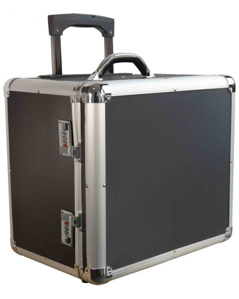 Aluminium Wheeled Storage Front Access with 12 Trays (BD8618B)