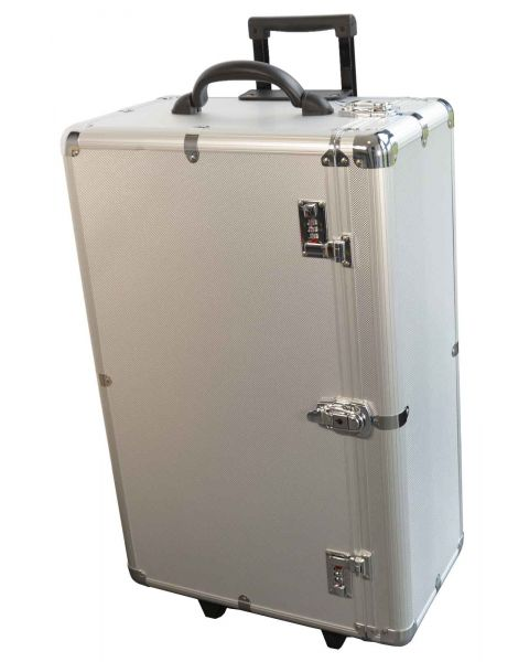 Large Aluminium Wheeled Storage Case with 24 Trays Side Access  (BD8627)