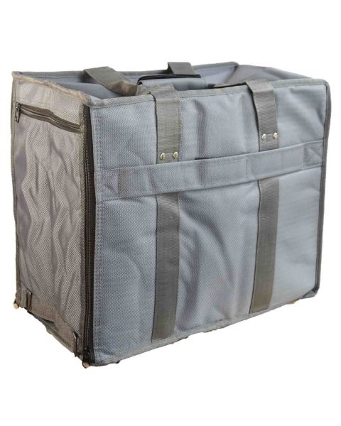 Soft Grey Vinyl Carrying Case with 12 Trays - BD91-B3