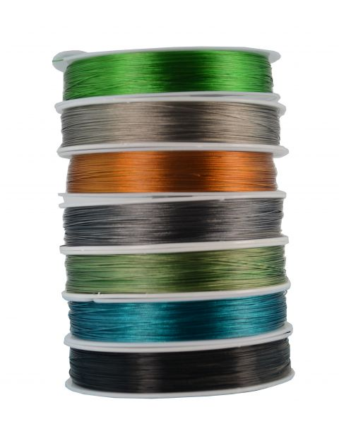Tiger Tail Wire 100m Spool Nylon Encased  Beading Thread  - Colour Choice
