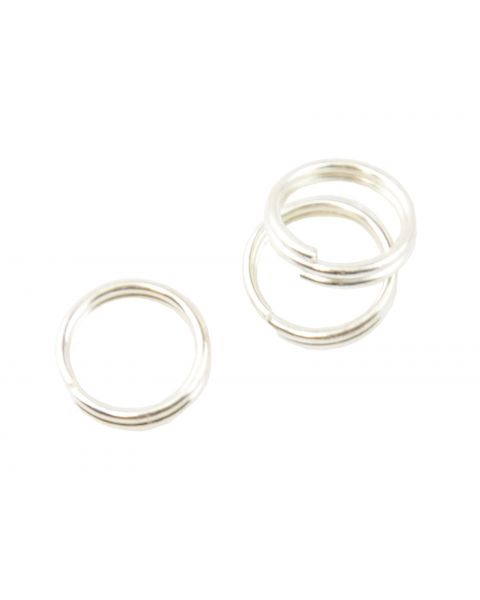 Pack of 100 Split Rings 6mm Silver Plated (5-61)