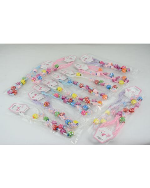 Pack of 12 Childrens wooden Star Necklace & Bracelet Set only 30p each