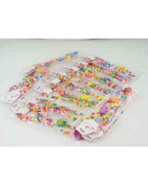 Pack of 12 Childrens wooden Penguin Necklace & Bracelet Set only 30p each