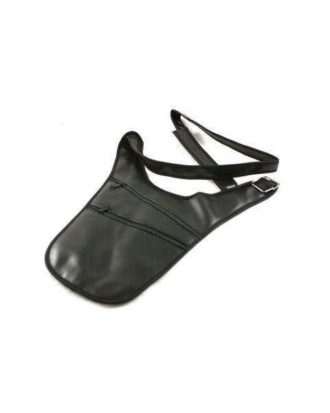 Black Leatherette Adjustable shoulder Wallet (BD3003)