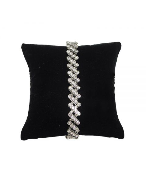 Lot of 10 Black Velvet Display Pillows 8.5cm x 8.5cm  **Special Offer**