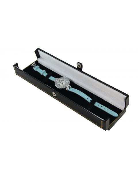 Black Double Door Button Bracelet/Watch Box from £3.75 each (BDB5-BK)
