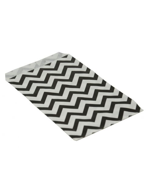 100 Black Chevron Paper Gift Bags From £2.49