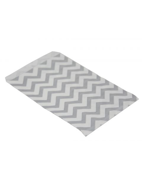 100 Silver Chevron Paper Gift Bags From £2.49