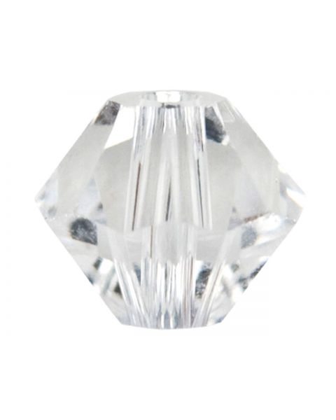 Bead, Swarovskiï¾® Crystal, Crystal Clear, 3mm faceted bicone (5301). Sold per pack of 48.