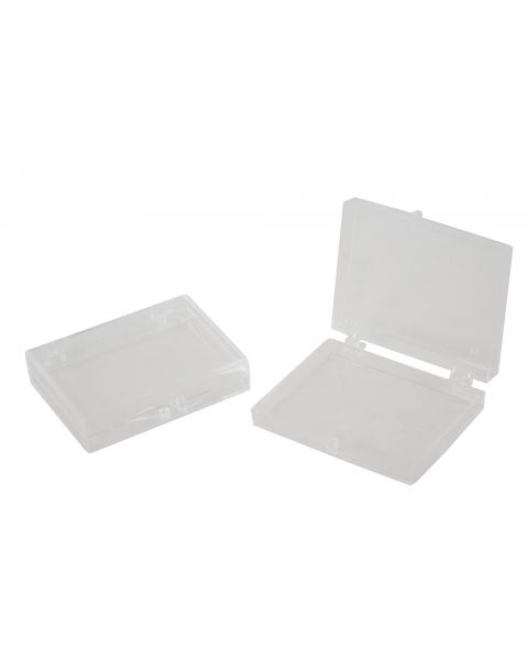 12 x Clear Plastic Hinged Box