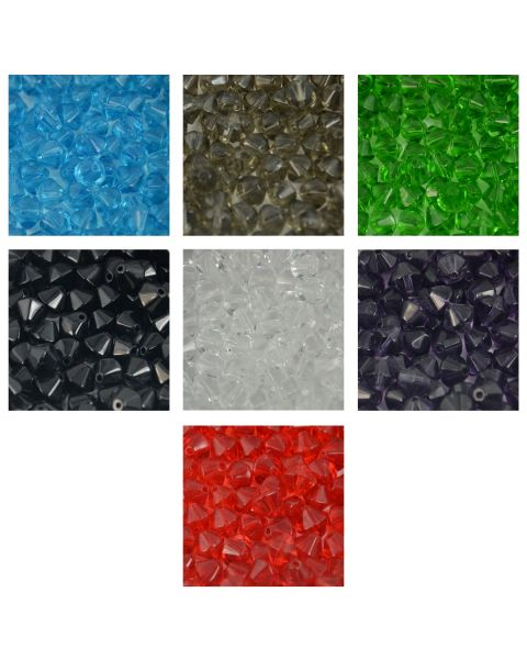 Bulk Crystal Bicone Beads- Bead Craft Jewellery Making DIY Costume Design - 20 Packs